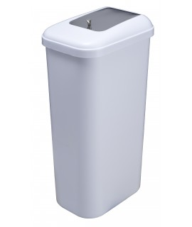 Sanitary napkin container with lid