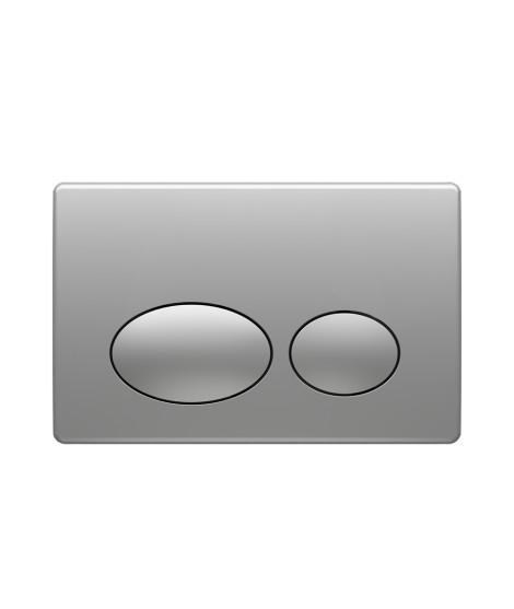 Placa de Accionamiento doble pulsador Cromo Mate