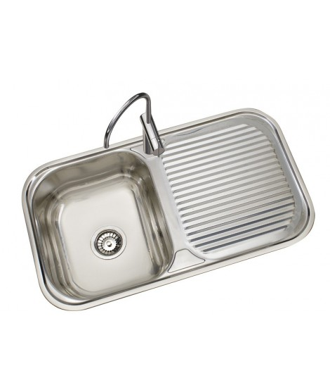 Kitchen Stainless steel sink 1 sinus and drainer