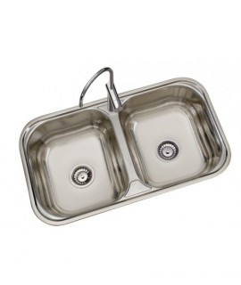 Kitchen Stainless steel sink 2 sinus