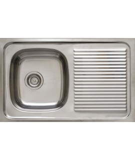 Kitchen stainless steel sink 1 sinus and drainer