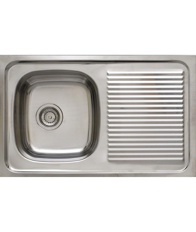 Fregadero de cocina 1 seno y escurridor timblau for Fregadero con escurridor bajo encimera