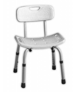 Bathroom chair with backrest