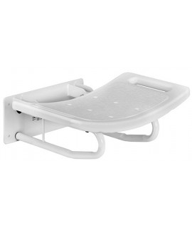 Folding bathroom seat
