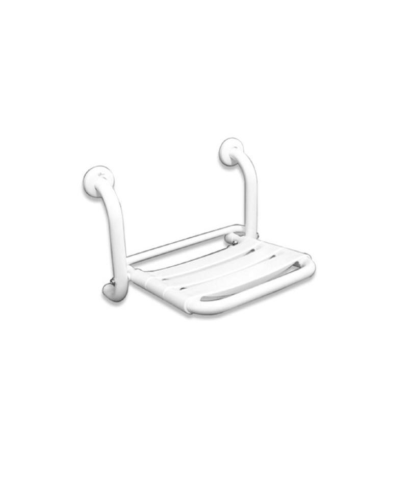 Asiento de ba o plegable en inox blanco timblau for Asientos para duchas