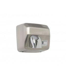 Stainless steel hand dryer with push button