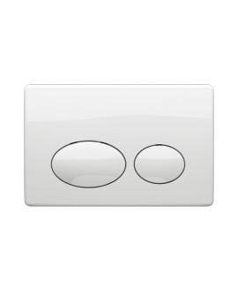 Placa Accionamiento doble pulsador Blanco