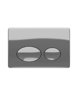 Placa Accionamiento doble pulsador Cromo Brillo