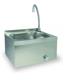 Push-Button Wall-Mounted Sink