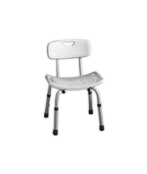 Bathroom chair with backrest